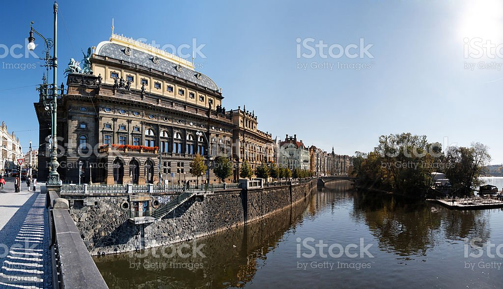National theatre, Prague royalty-free stock photo