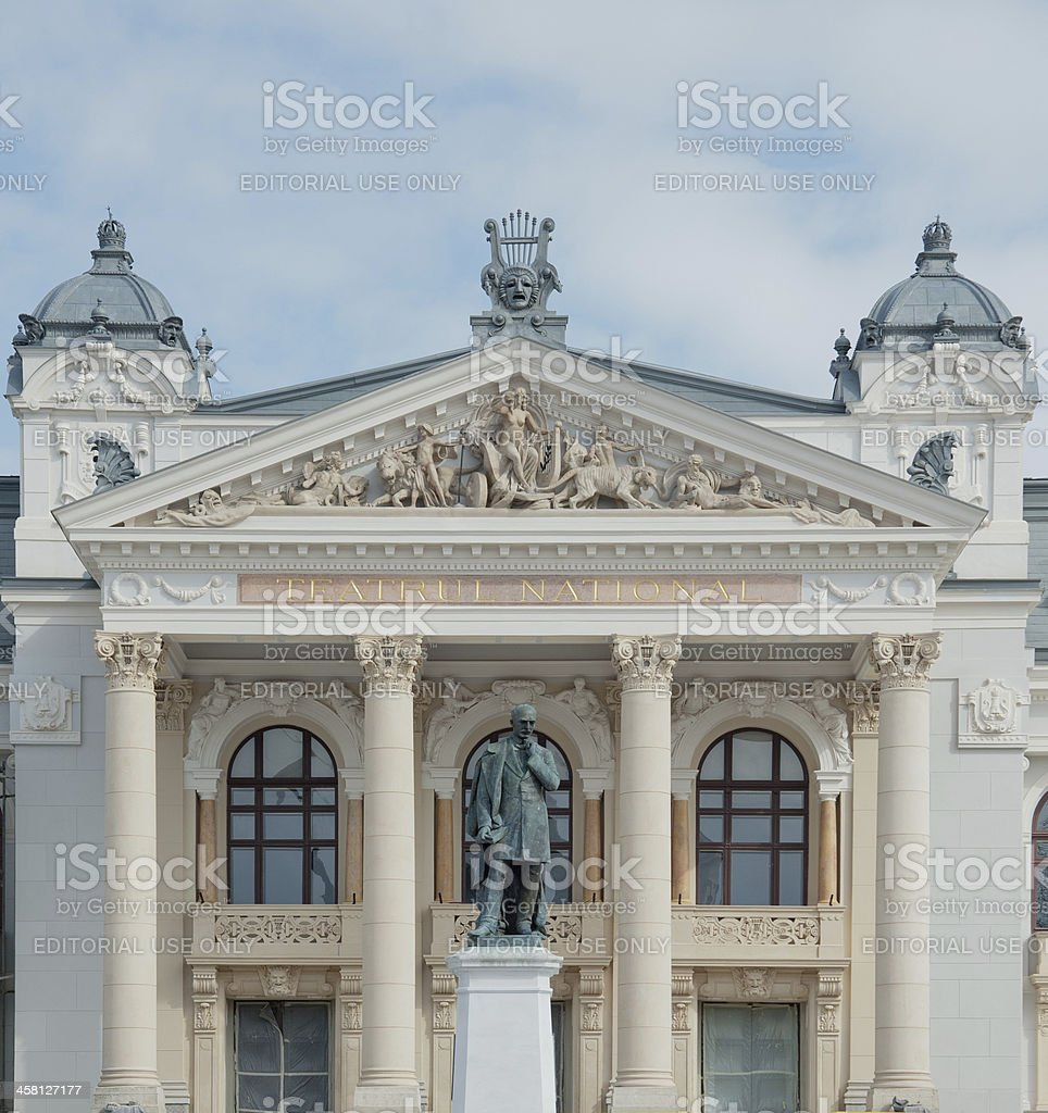 National Theatre 'Vasile Alecsandri' from Iasi, Romania royalty-free stock photo
