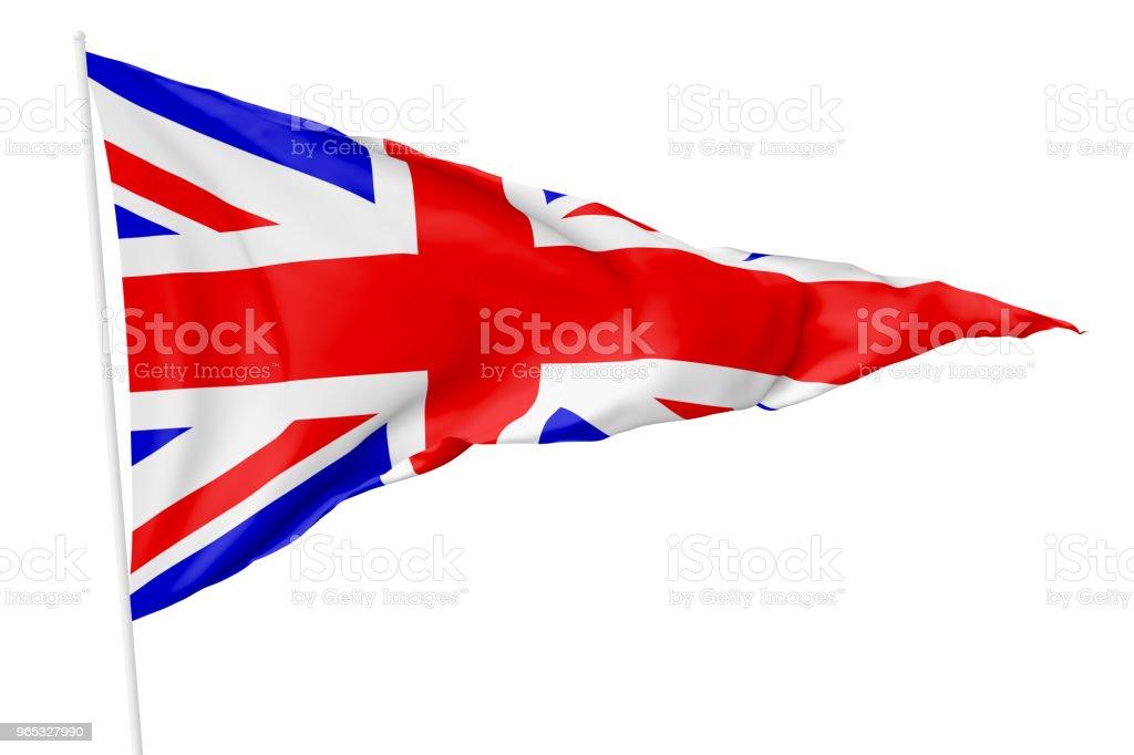 National triangular flag of United Kingdom zbiór zdjęć royalty-free