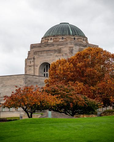 National War memorial in Canberra in Autumn.