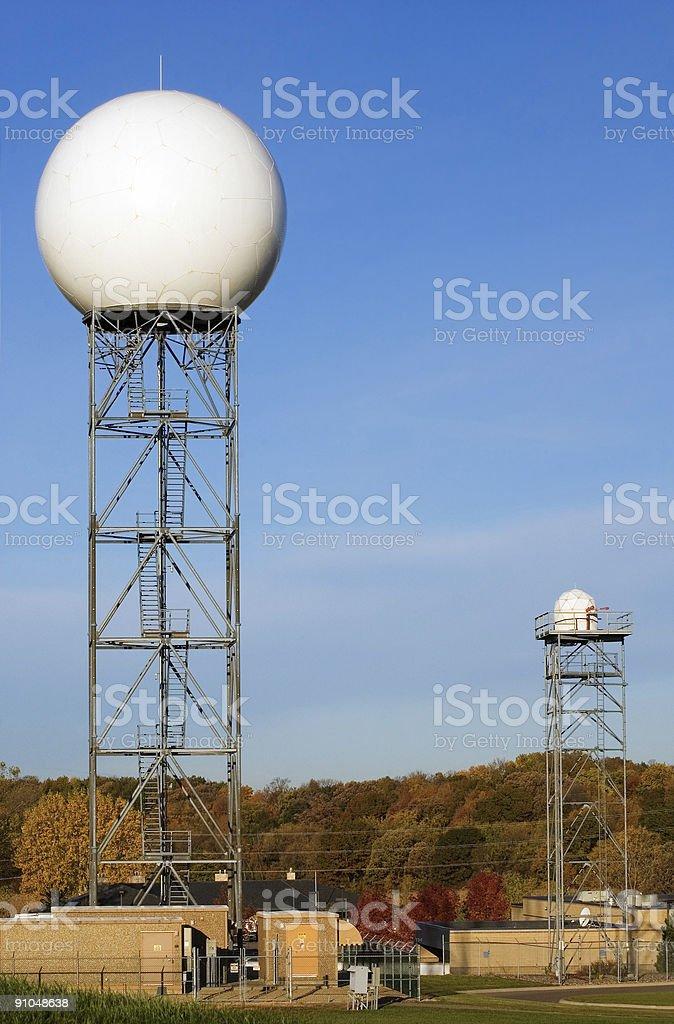 National Weather Service Radar Dome stock photo