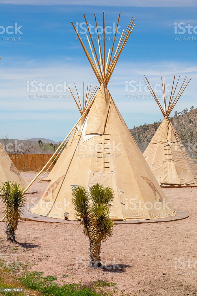 National wigwam of American Indians stock photo