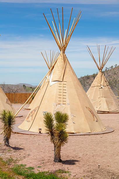 national wigwam of american indians - weidentipi stock-fotos und bilder