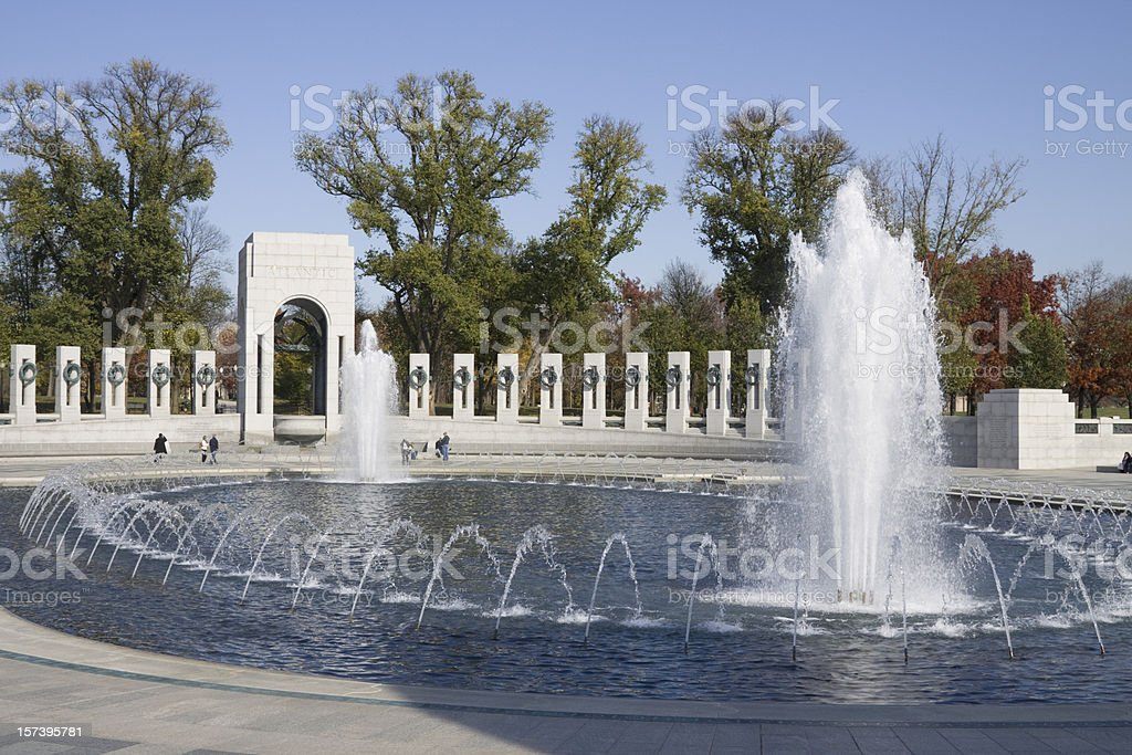 National World War 2 memorial, Washington DC stock photo