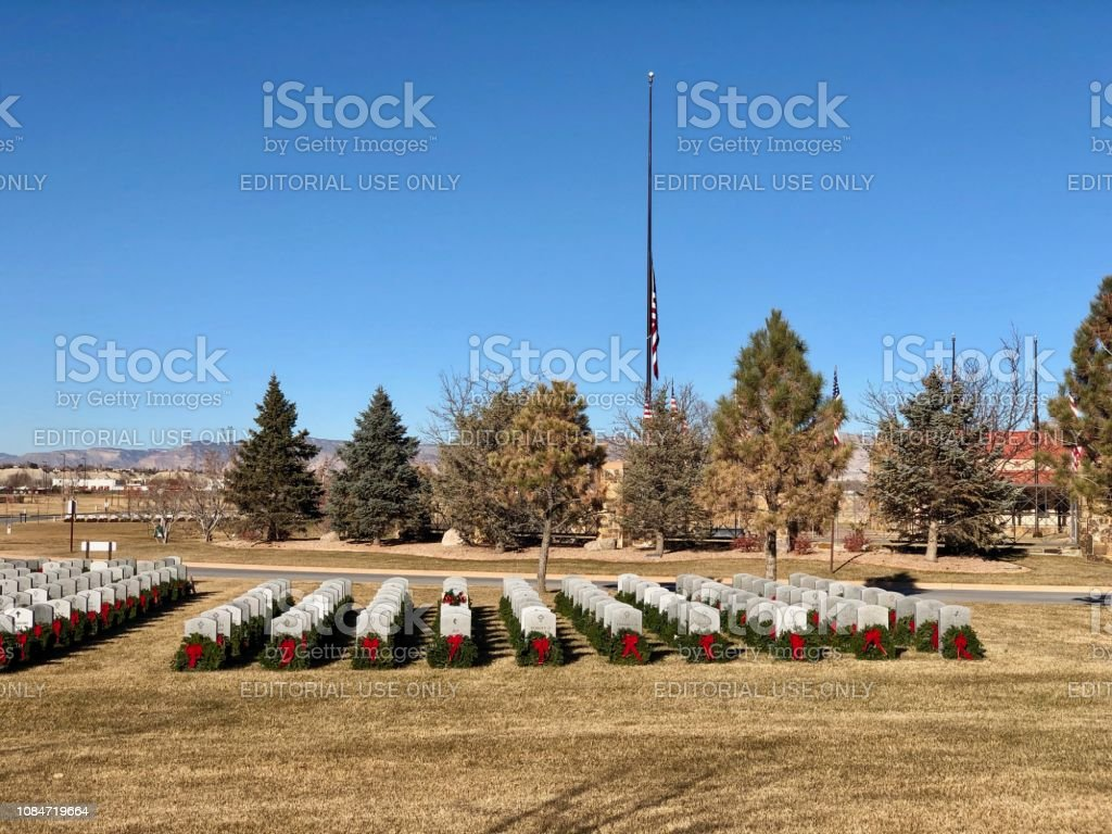 National Wreath Laying Day in Colorado stock photo