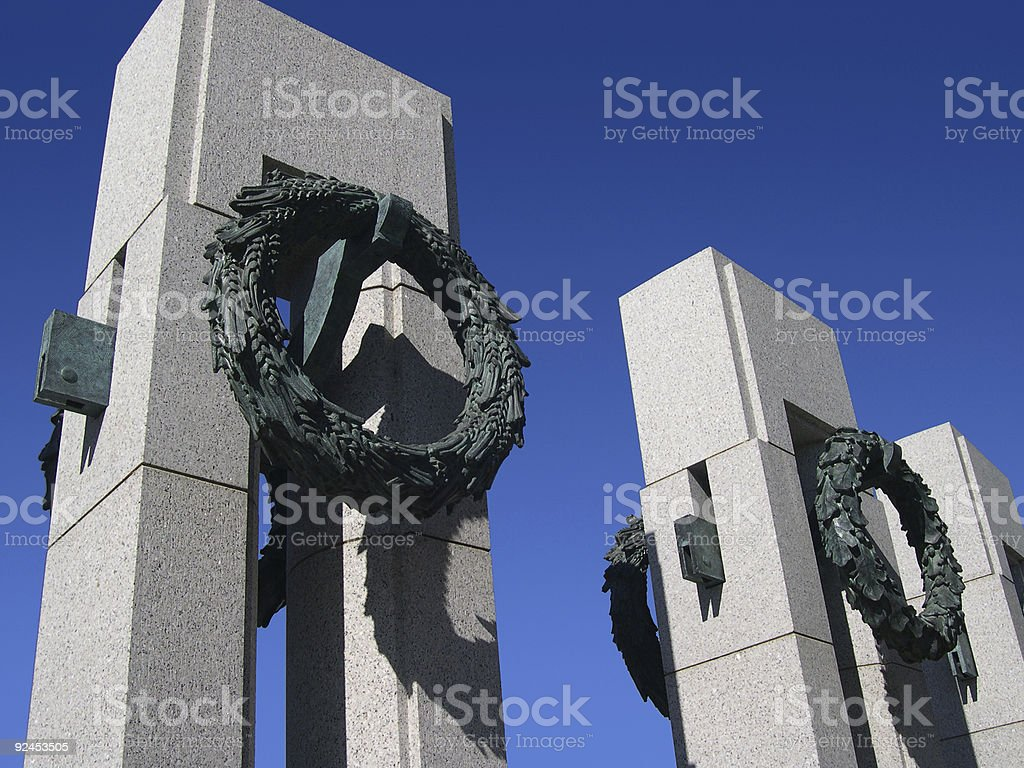 National WWII Memorial pillars 1 royalty-free stock photo