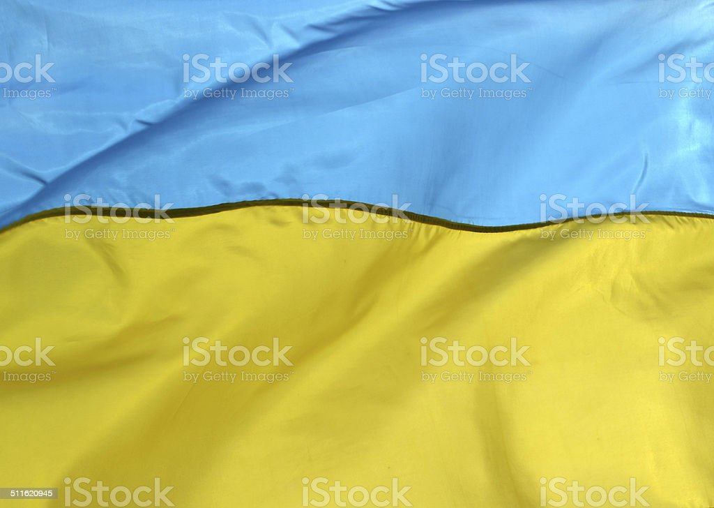 National yellow and blue flag of Ukraine stock photo