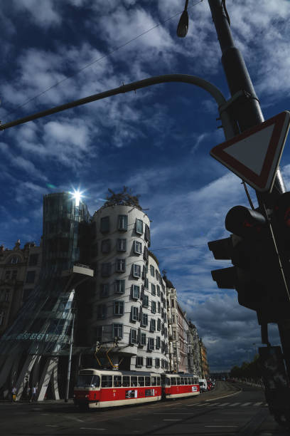Nationale-Nederlanden (The Dancing House) by Architect Frank O. Gehry stock photo