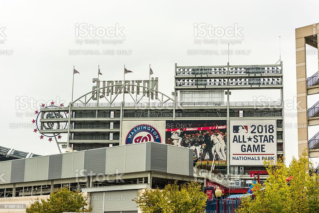 Nationals park building stadium stock photo