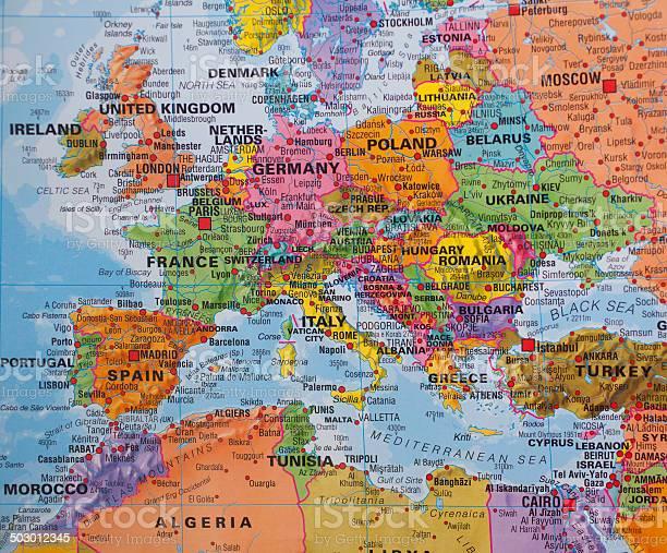 Europa Meridionale Cartina.Nazioni Mappa Di Western Nord Sud E Paesi Delleuropa Orientale Fotografie Stock E Altre Immagini Di Austria Istock