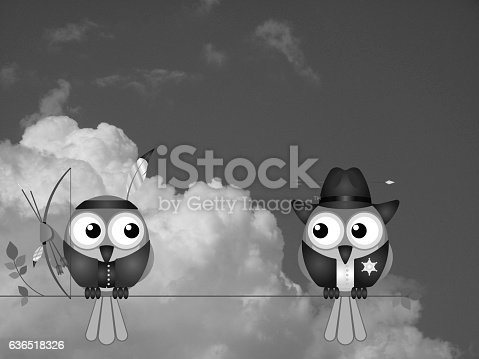 istock Native American and Cowboy 636518326