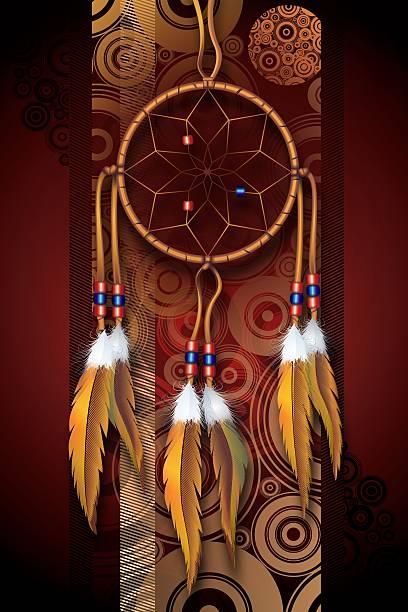 native american art - traumfänger zeichnung stock-fotos und bilder