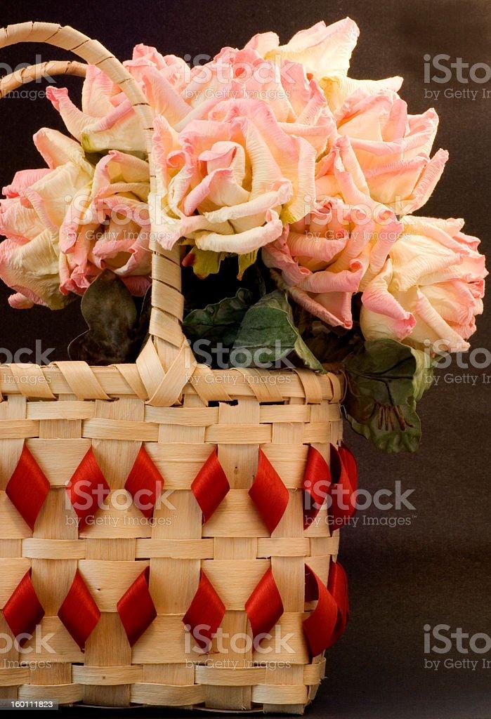 Native American Black Ash basket stock photo