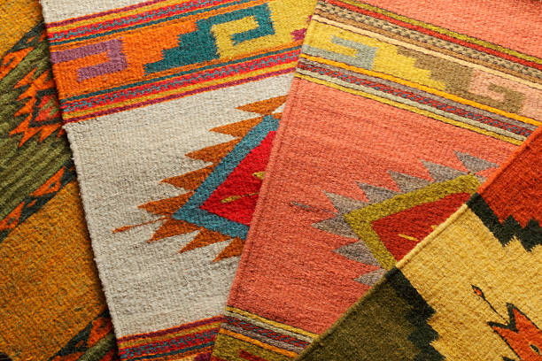 native american blankets - navajo culture stock photos and pictures
