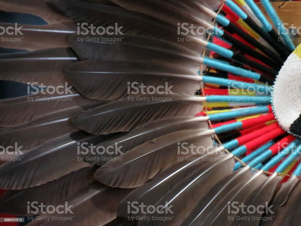 Native American Bustle stock photo