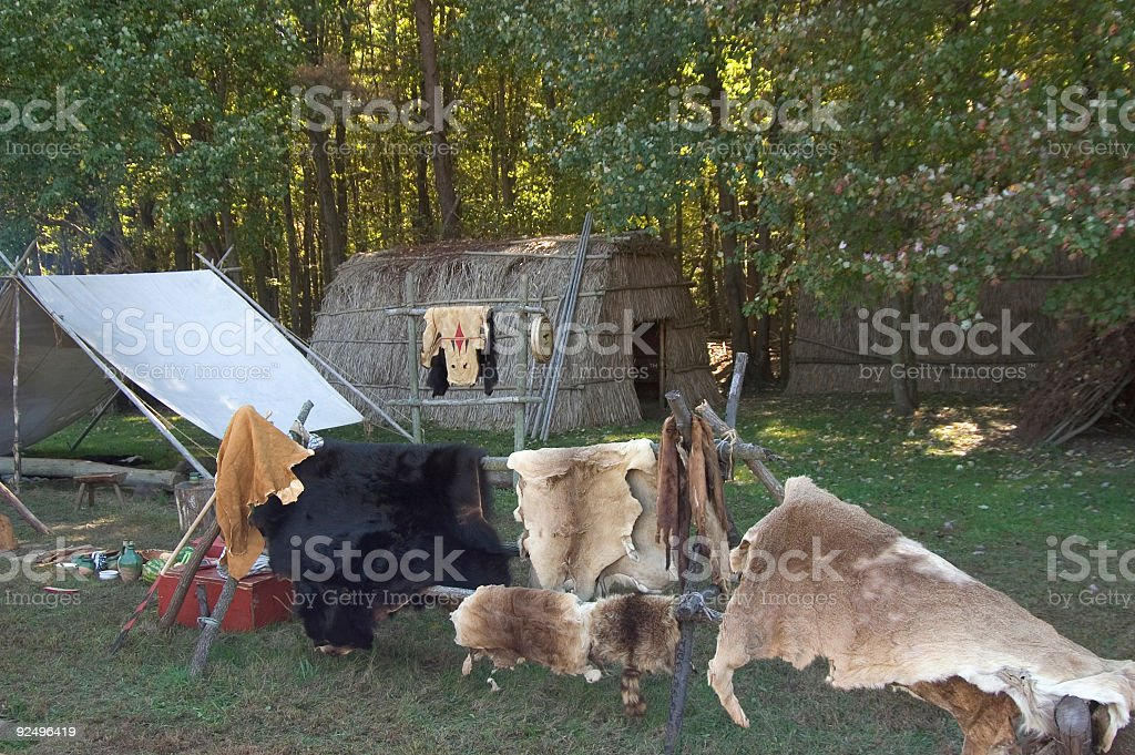 Native American Camp royalty-free stock photo