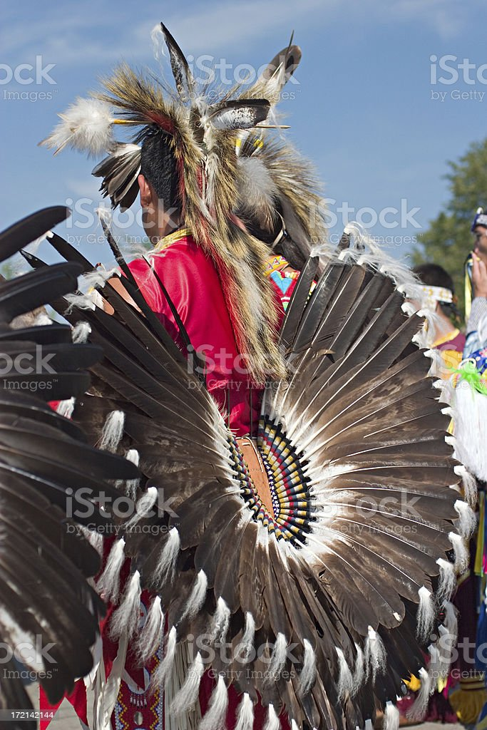 Native american ceremonial dress royalty-free stock photo