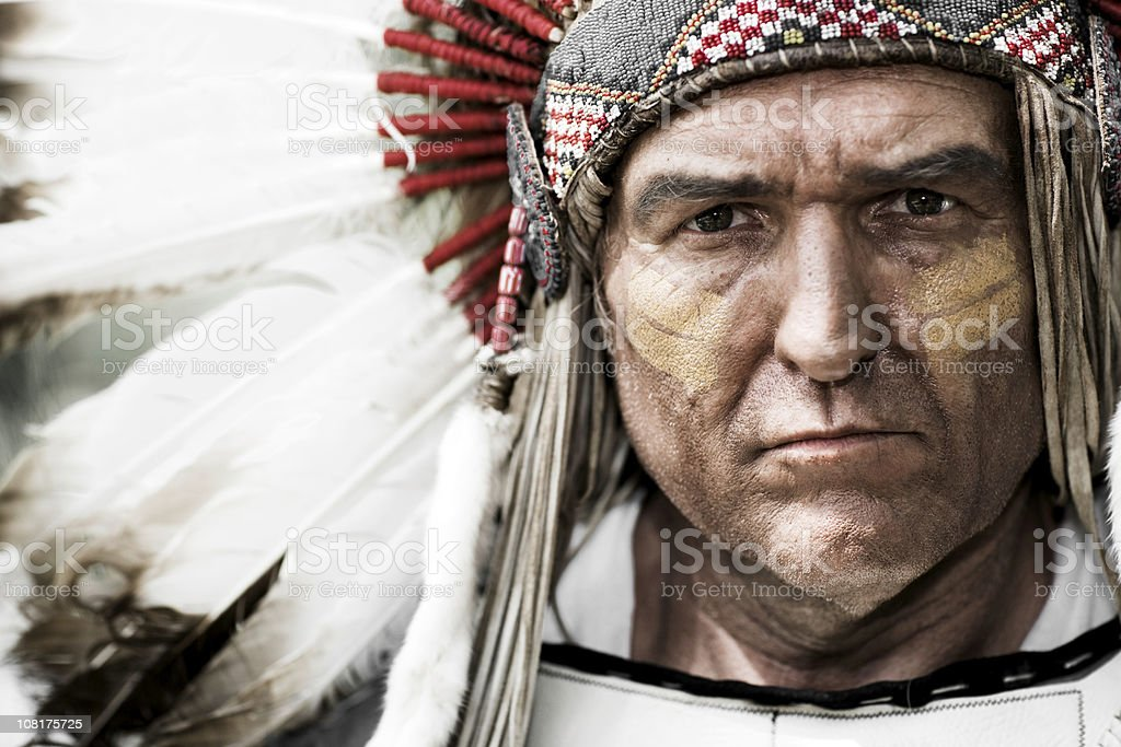 Native American Chief stock photo