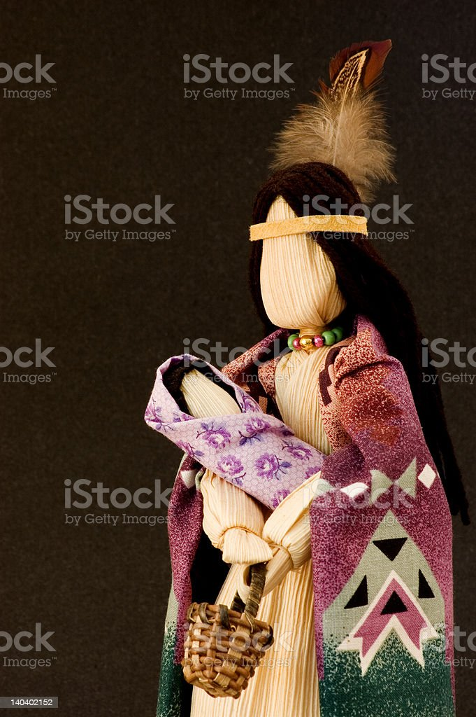 Native American corn husk doll 2 stock photo