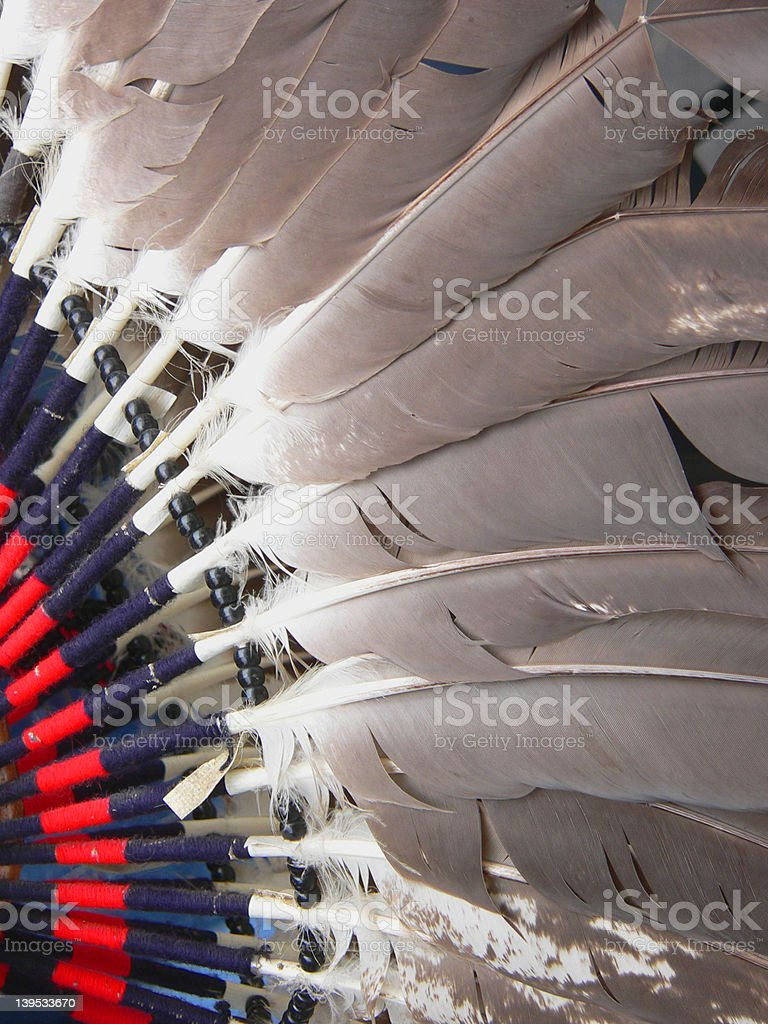 Native American Head Dress Feathers stock photo