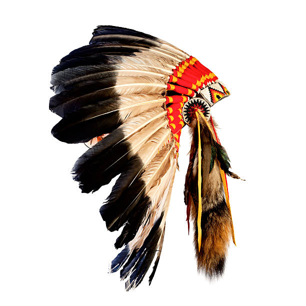 native american indian chief headdress stock photo