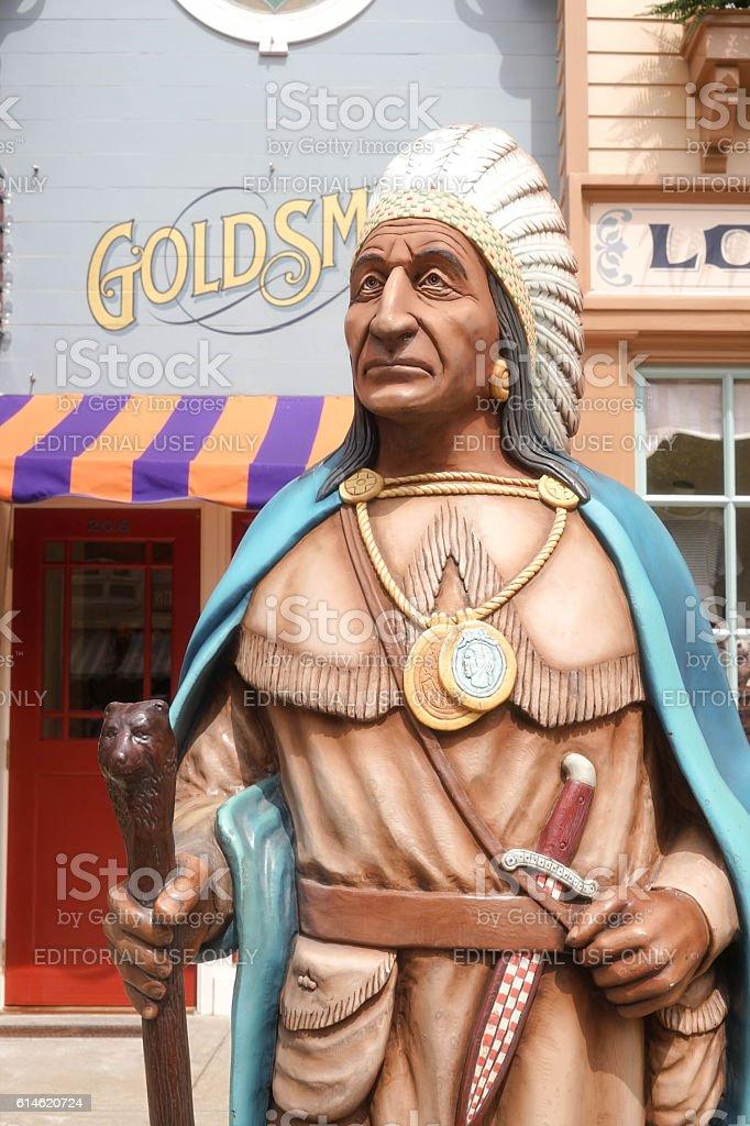 Native American Indian of Idaho (tribe leader) stock photo