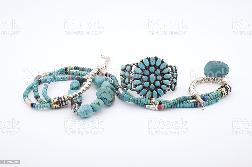 Native American Jewelry / Jewellery royalty-free stock photo