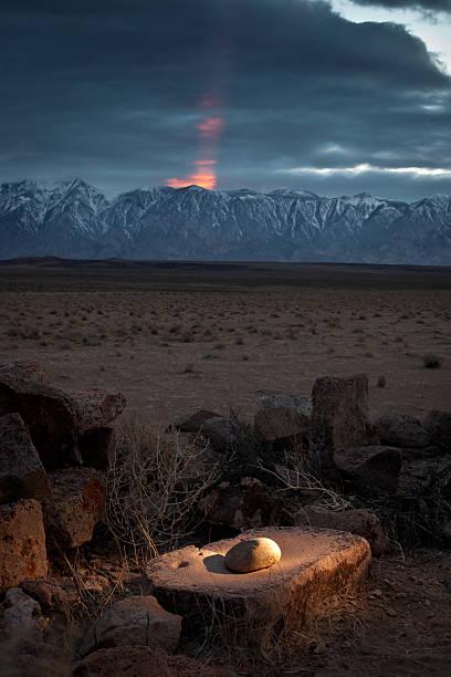 Native American Mordor stock photo