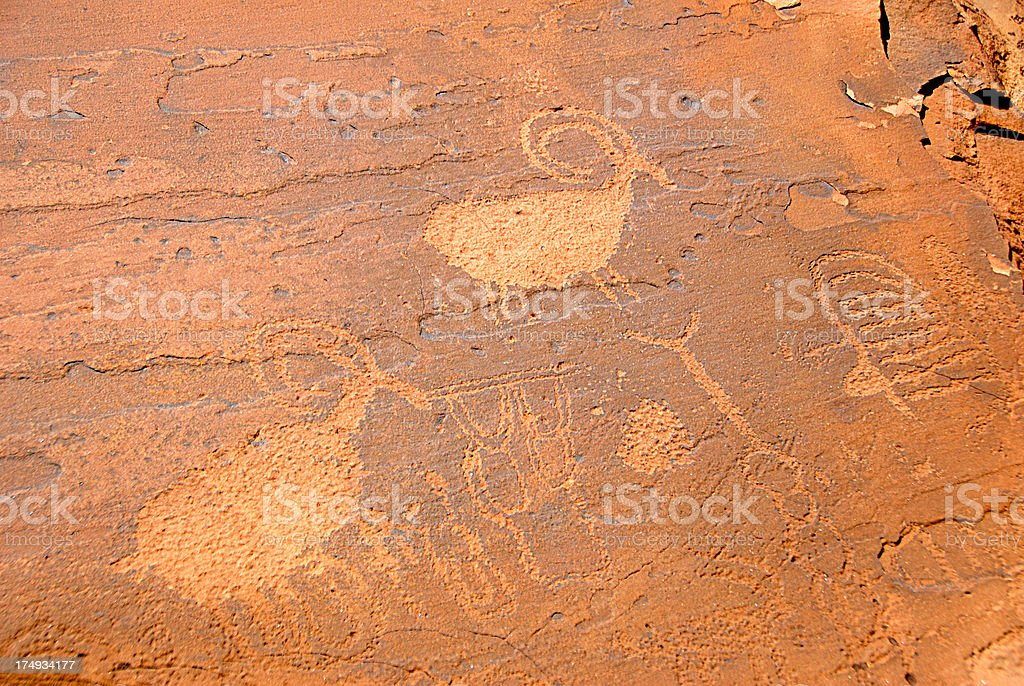 Native American Petroglyphs royalty-free stock photo