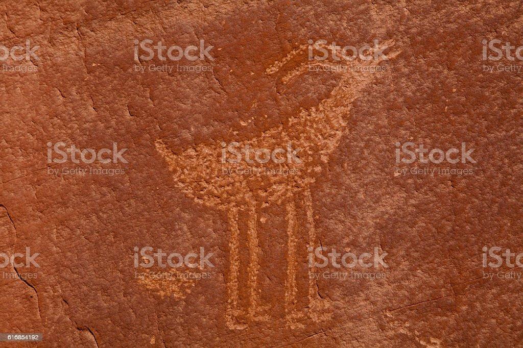 Native American Petroglyphs stock photo