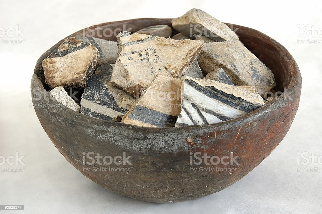 native american pottery royalty-free stock photo