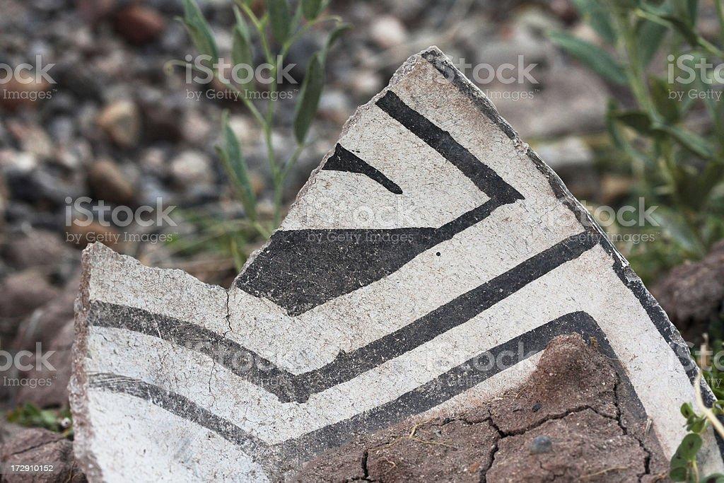Native American Pottery Shard 2 royalty-free stock photo