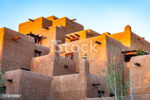 Native American Pueblo facade, detail, Santa Fe, New Mexico, USA,Nikon D3x