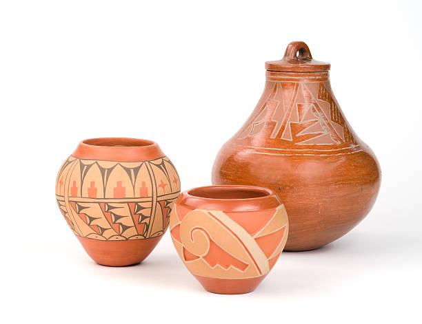cerámicas de los indígenas estadounidenses pueblo. - alfarería fotografías e imágenes de stock