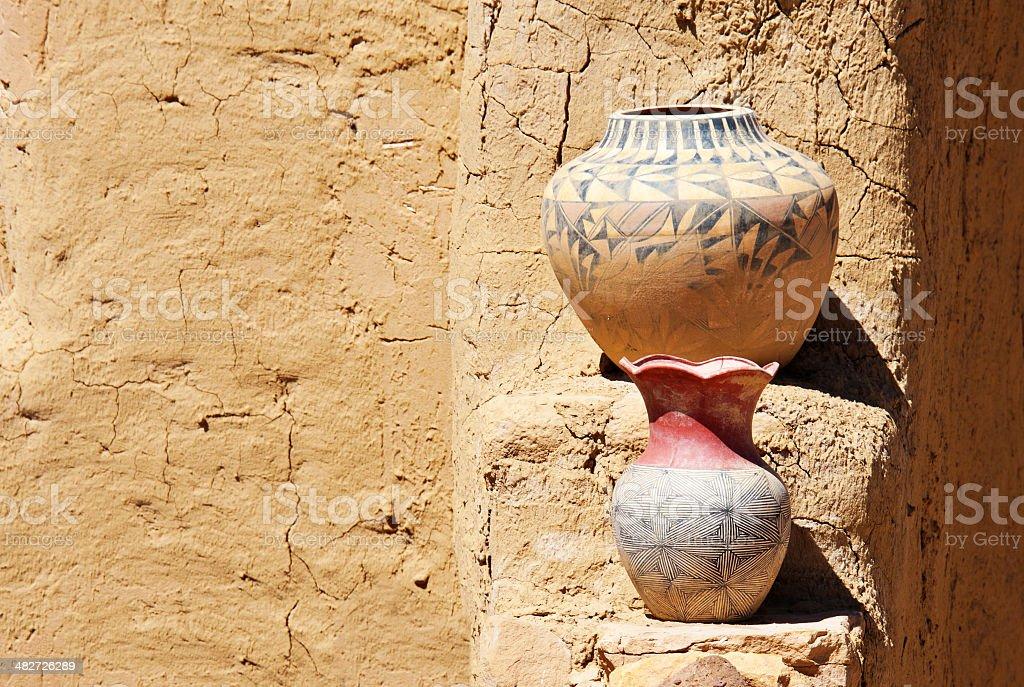 Native American Pueblo Pottery royalty-free stock photo