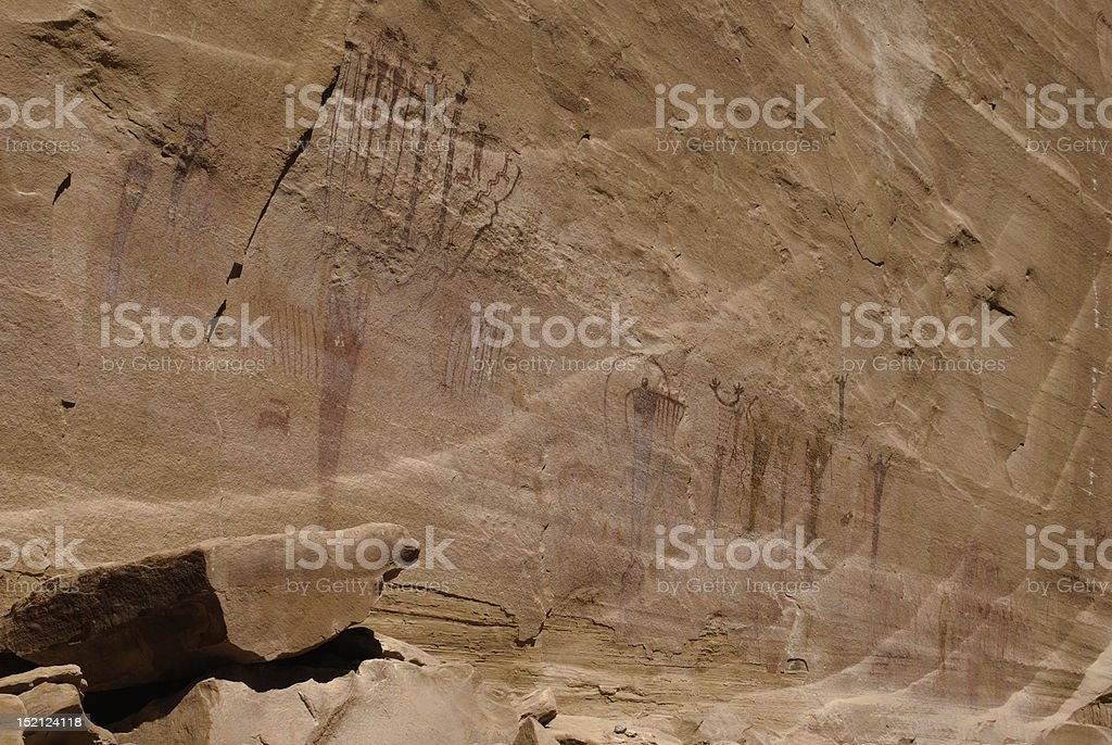 Native American Rock Art stock photo