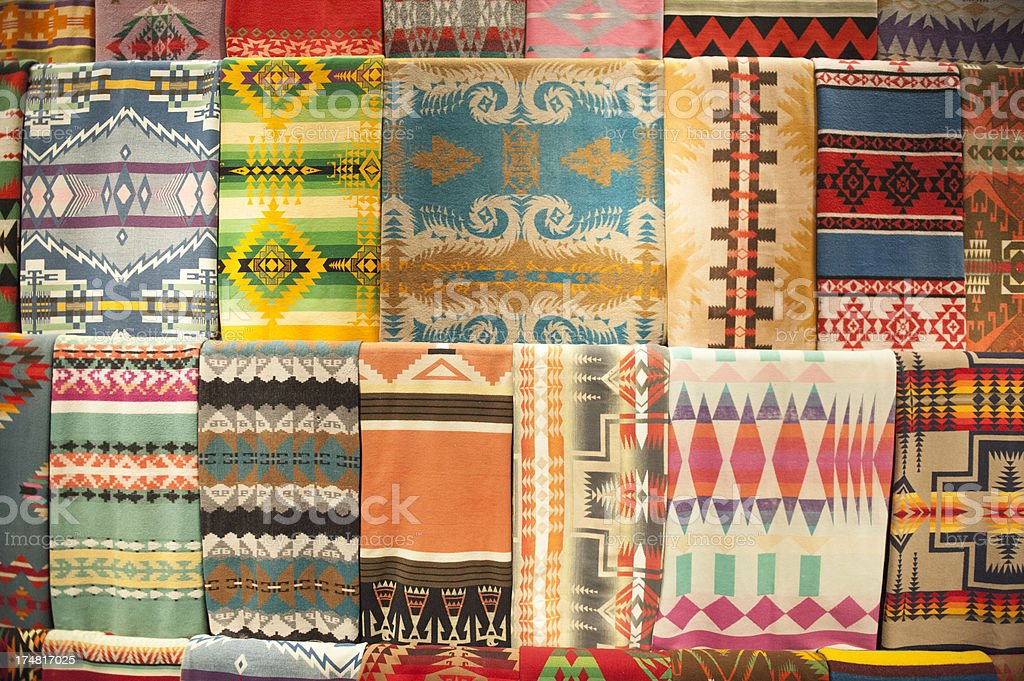 Native American Rugs stock photo