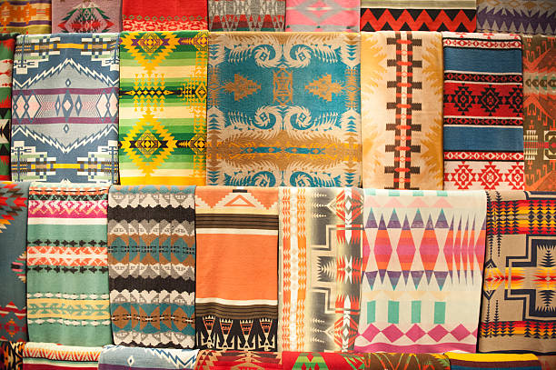 native american rugs - navajo culture stock photos and pictures