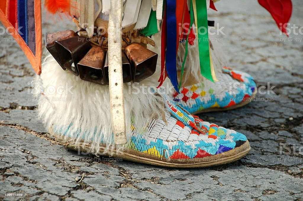 Native American Shoes stock photo