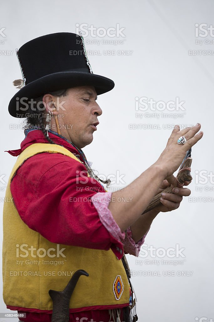 Native American Storyteller royalty-free stock photo