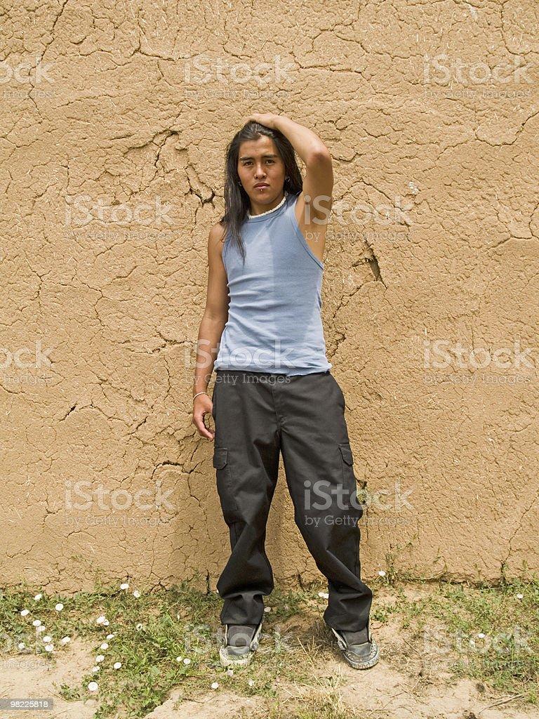Native American teenage boy royalty-free stock photo
