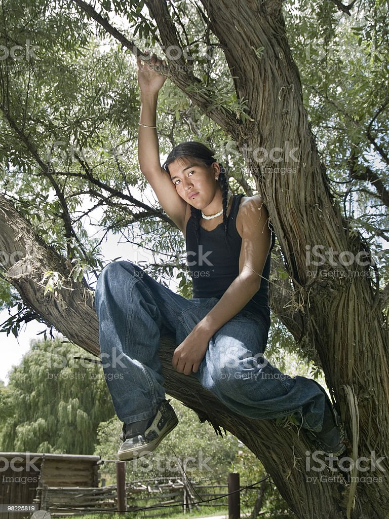 Native American teenage boy royalty-free stock photo