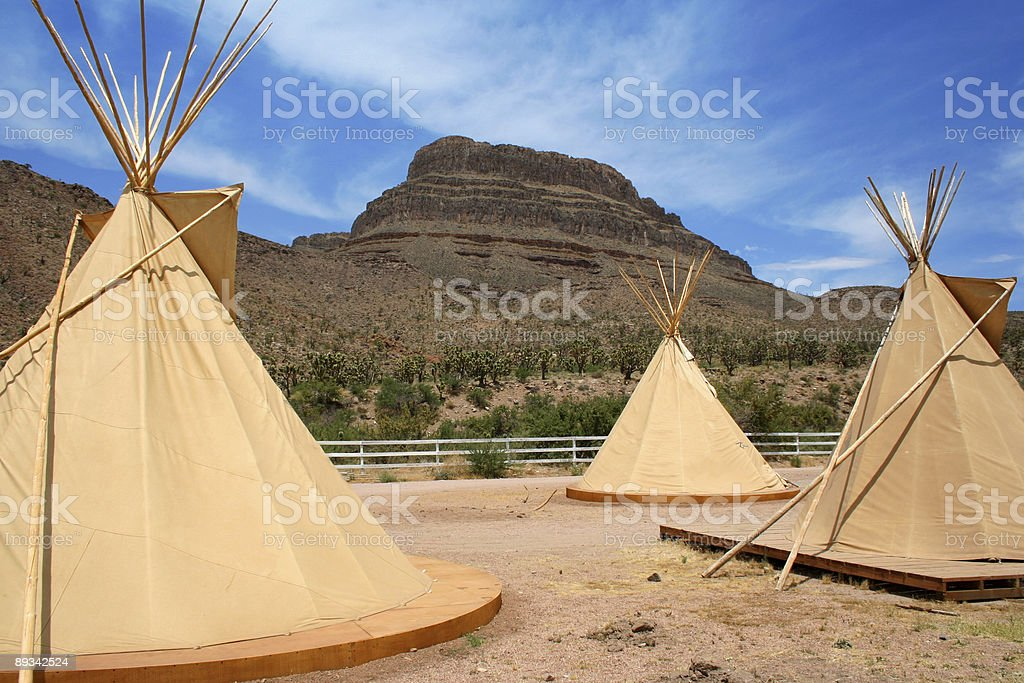 Native American Tepees stock photo