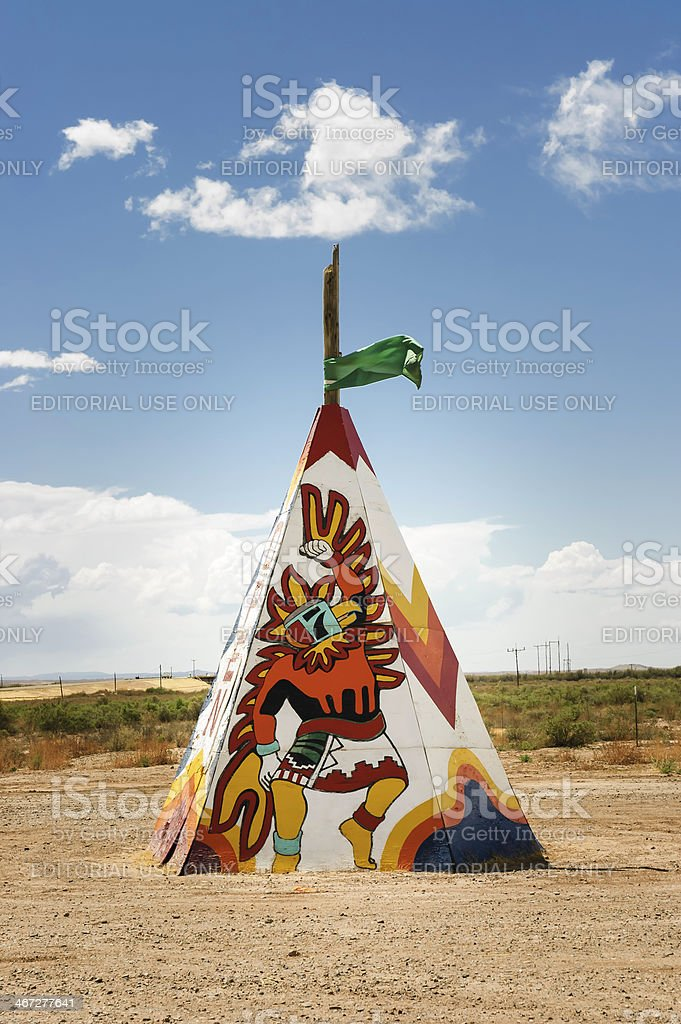 native american tipi or teepee stock photo