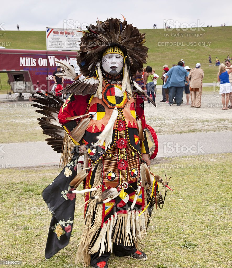 Native American Tribal Dancer royalty-free stock photo