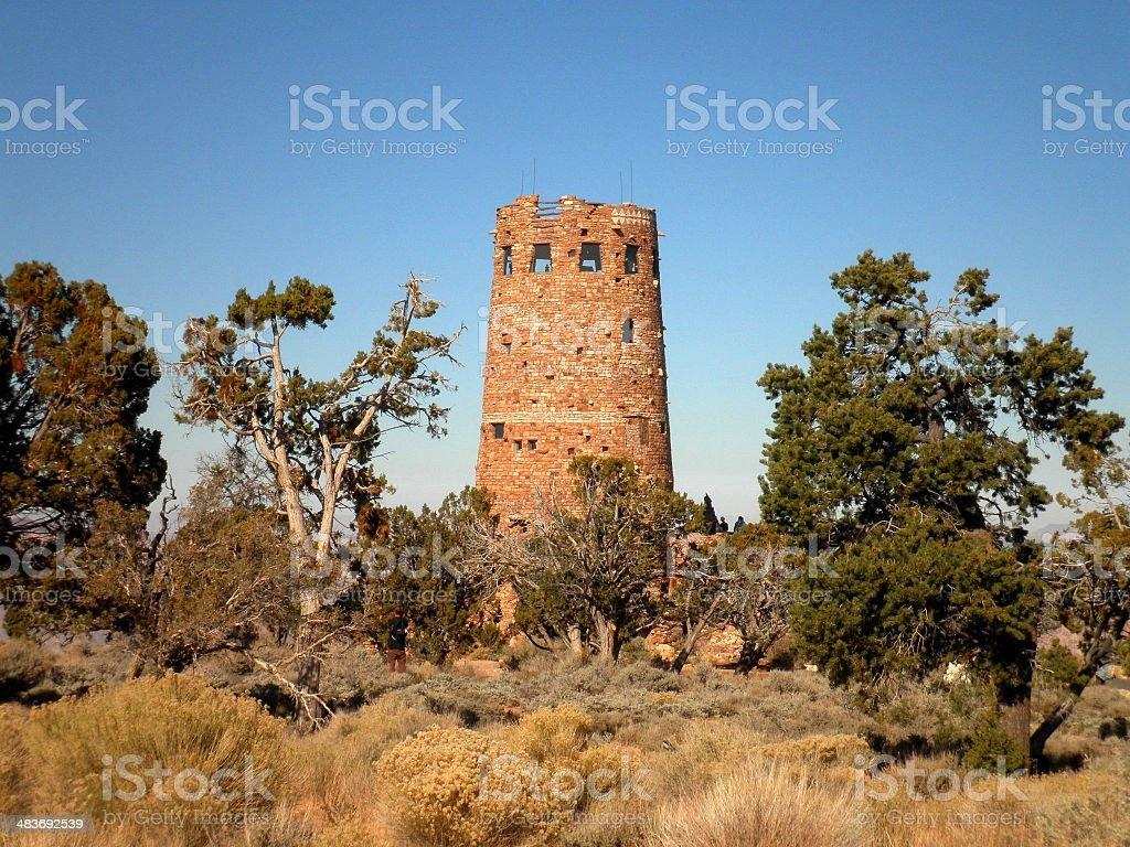 Native American Watchtower Arizona royalty-free stock photo