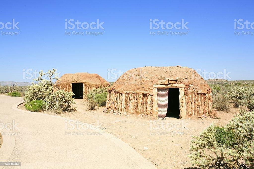 Native American Wigwam stock photo