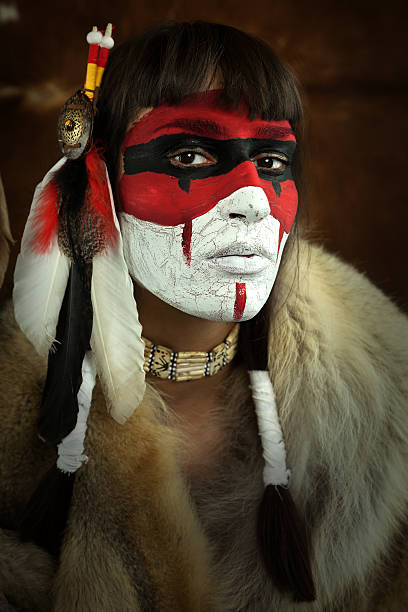 Native american woman stock photo