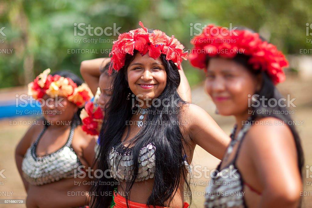 Native American women stock photo