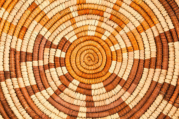 Native American Woven Background Pattern stock photo